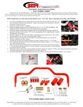 BMR Installation Instructions for XSB007