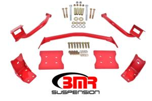 High Resolution Image - TBR004 Tubular Upper And Lower Torque Box Reinforcement Braces For  1979-2004 Ford Mustang TBR004  - BMR Suspension