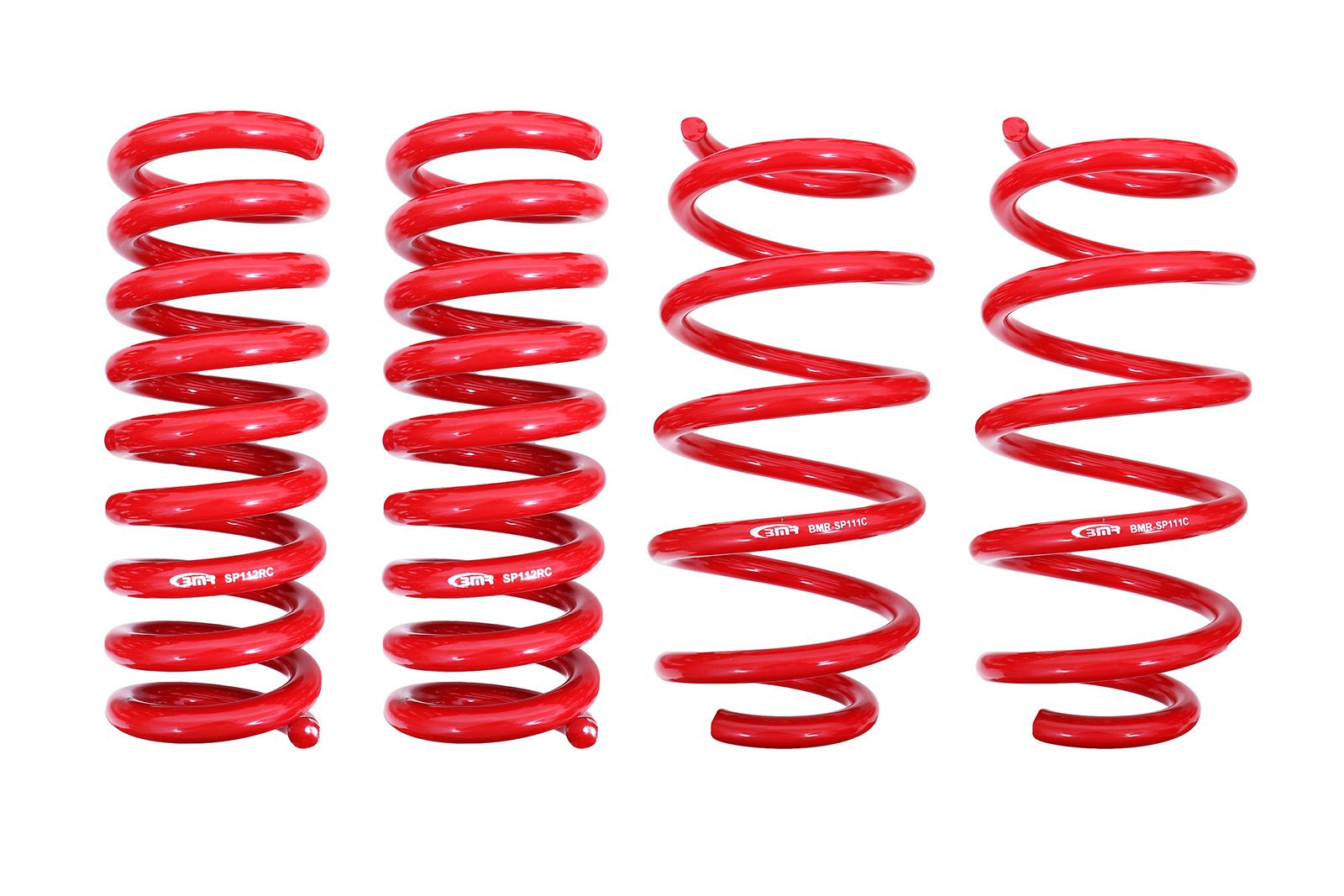 """BMR Lowering Springs 1.25/"""" Coil Front Rear Red Camaro Firebird Set of 4"""